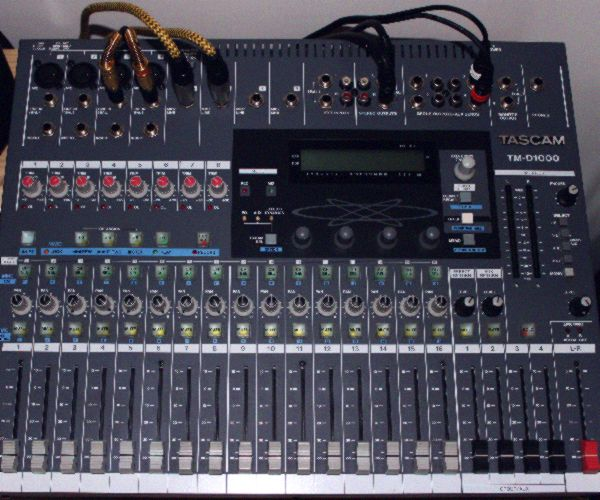 jitter rejection of Tascam TM D1000 digital console