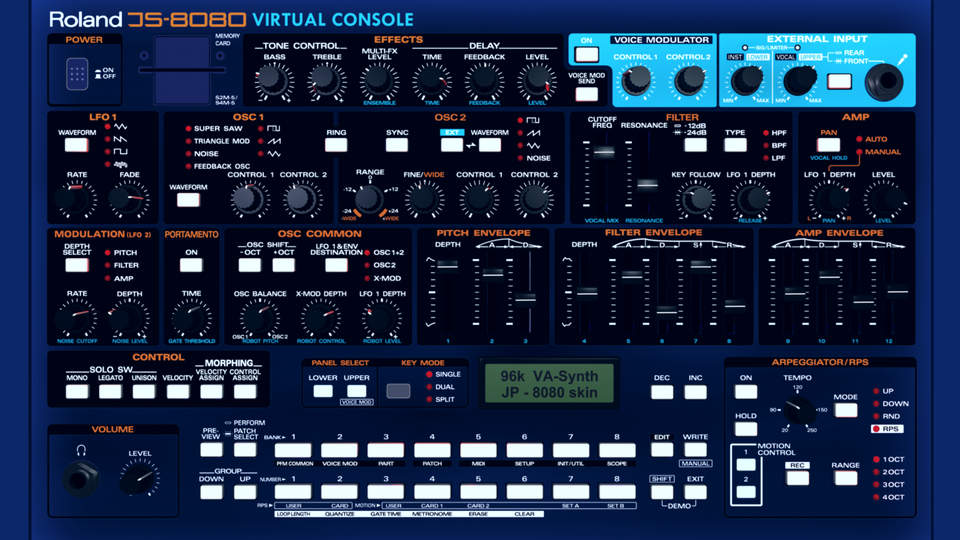 2D-Console to emulate Roland JP 8080